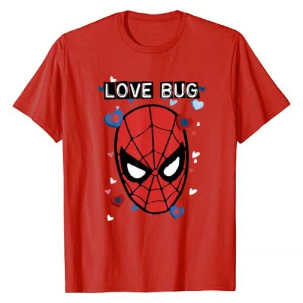 Marvel Graphic Tshirt 1 Valentine's Day Spider-Man Love Bug Portrait T-Shirt