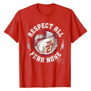 FanPrint Graphic Tshirt 1 Mike Trout Respect All Fear None T-Shirt - Apparel