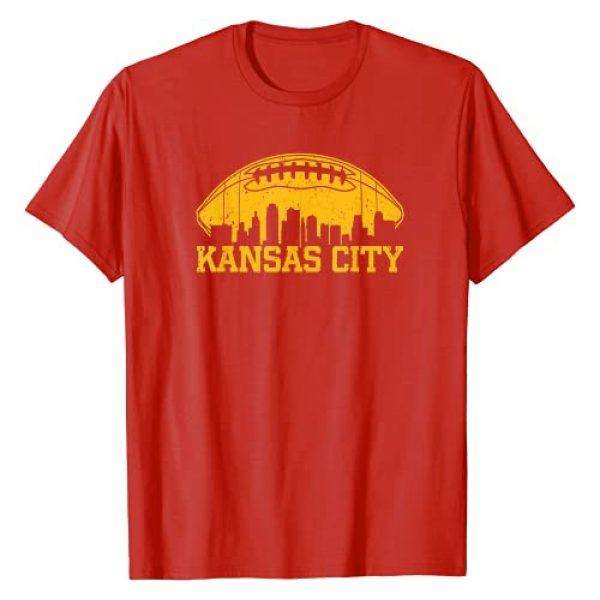 KCRetroFootball&Co. Graphic Tshirt 1 Vintage Kansas City-Football KC Skyline Missouri Retro Gift T-Shirt