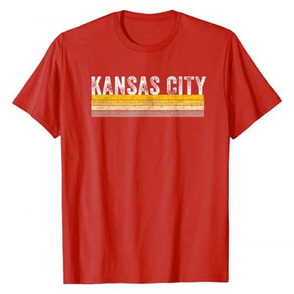 Kansas City Fangear Graphic Tshirt 1 Kansas City Retro Vintage Stripe Red KC Fan Gift Kc Missouri T-Shirt