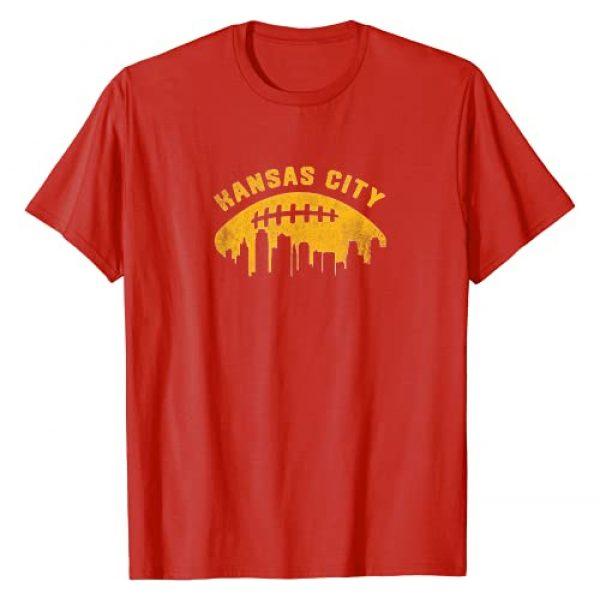 Tout Wear Kansas City Graphic Tshirt 1 Vintage Kansas City Cityscape Retro Football T-Shirt