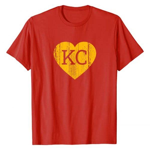 Love KC Football Shirts Graphic Tshirt 1 Kansas City Football Love Heart KC fans 2020 gift T-Shirt