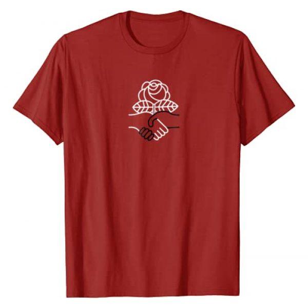 Democratic Socialism Shirts Graphic Tshirt 1 Democratic Socialism Socialist Rose Handshake Tee Shirt