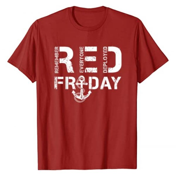 Red Friday Tees To Support Military Graphic Tshirt 1 Red Friday Military shirts Support Navy Soldiers T-shirt T-Shirt