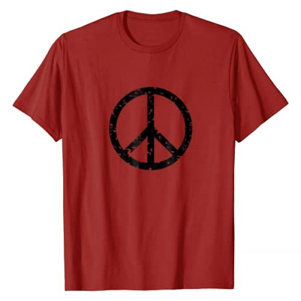 Vintage Tee Shirt Designs Graphic Tshirt 1 Distressed Vintage Peace Sign Tee Shirt Trendy Hippy T-Shirt