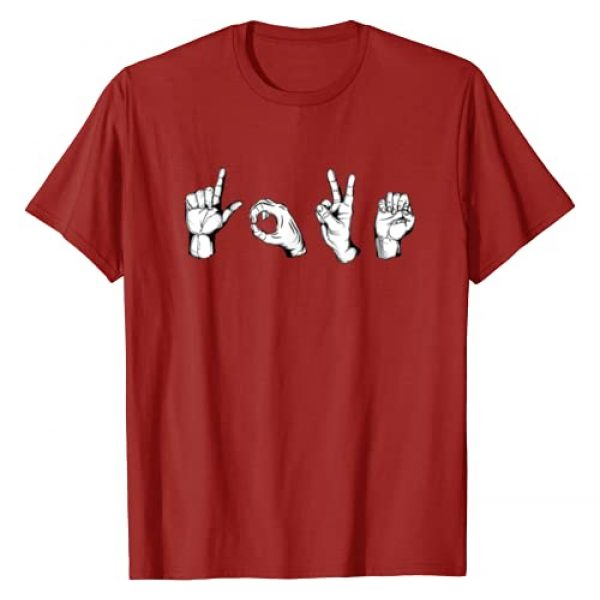 ASL Language Hearts Day Lovers Couples Gift Tees Graphic Tshirt 1 Valentines Day Shirt | I Love You Heart Hand Sign Language