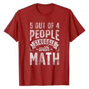 Lique Math Graphic Tshirt 1 5 out of 4 People Struggle with Math T shirt Funny Teacher T-Shirt