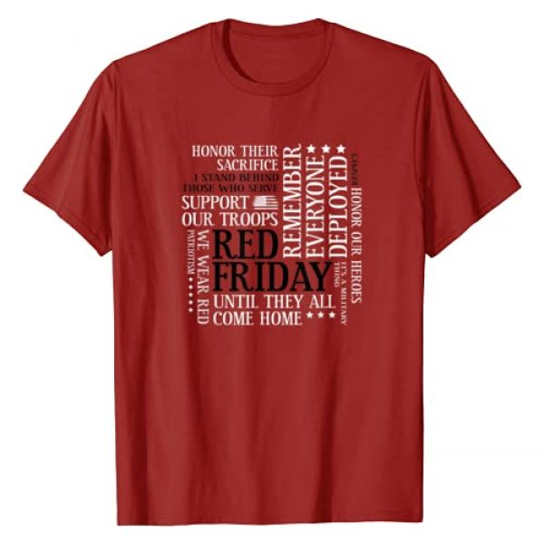Military by StudioMetzger Graphic Tshirt 1 Red Friday Support Our Troops Military Word Cloud T-Shirt