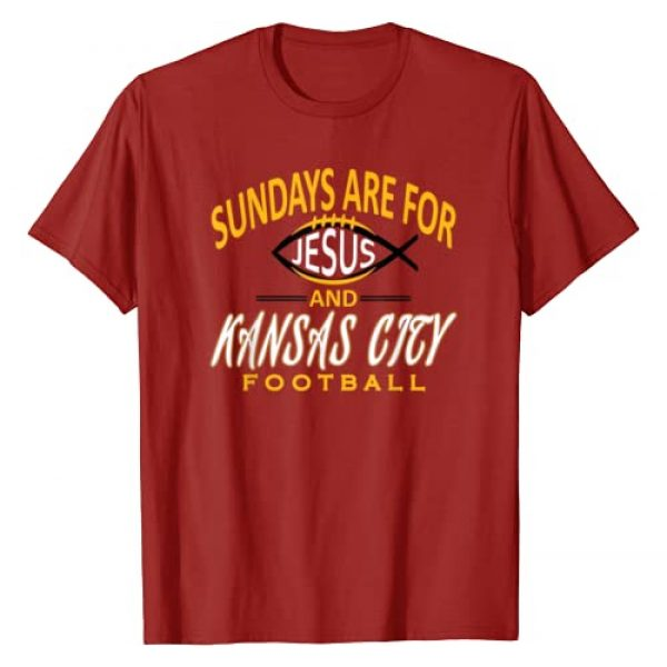 K.C. CHAMPIONSHIP Football Apparel Graphic Tshirt 1 Sundays Are For Jesus and Kansas City Funny Football T-Shirt