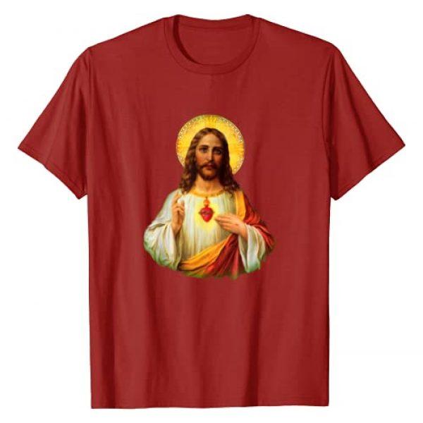 Jesus T-Shirt Catholic T-Shirt Sacred Heart Graphic Tshirt 1 Sacred Heart of Jesus T-Shirt Catholic T-Shirt