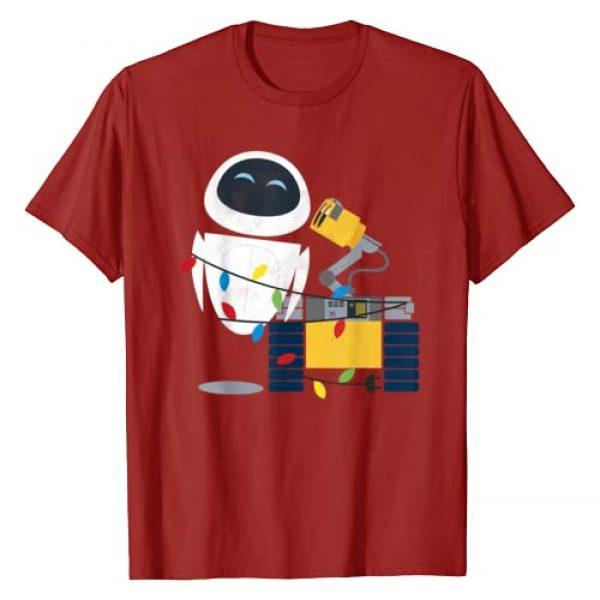 Disney Graphic Tshirt 1 Pixar Wall-E Eve Christmas Light Wrap Graphic T-Shirt