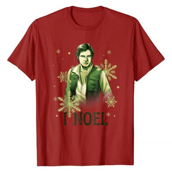 Star Wars Graphic Tshirt 1 Han Solo I Noel Christmas Snowflake T-Shirt