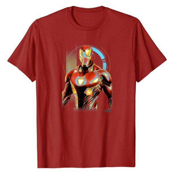 Marvel Graphic Tshirt 1 Infinity War Iron Man Digital Profile Pose T-Shirt