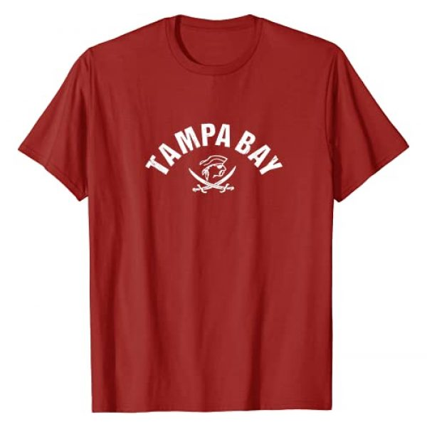 Tampa Bay FanZone Graphic Tshirt 1 Vintage Red Tampa Bay Old School Pirate TB Cool Tampa Bay T-Shirt