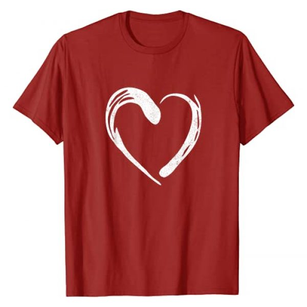 Cute Valentines Day Gift Tees Graphic Tshirt 1 Cute Heart Valentines Day Red T-Shirt