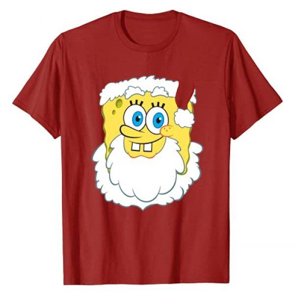 Nickelodeon Graphic Tshirt 1 Spongebob SquarePants Large Santa Clause Christmas T-Shirt