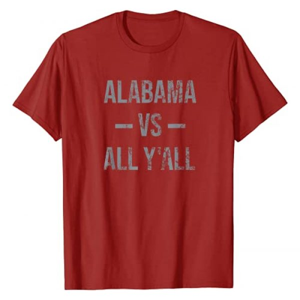 Alabama Apparel Co Graphic Tshirt 1 Alabama Vs All Y'All Vintage Weathered Southerner T-Shirt