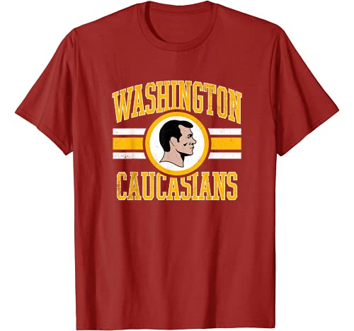 WashingtonCaucasiansCo. Graphic Tshirt 1 Washington Caucasians Football Rednecks T-Shirt