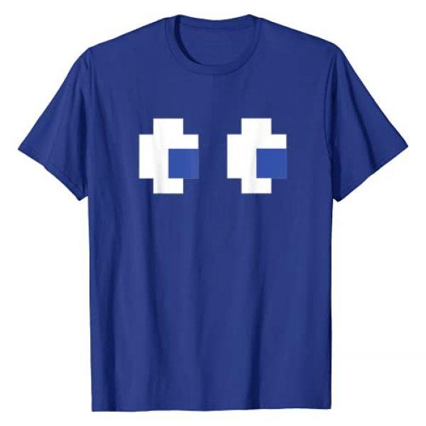 X10 Halloween & Horror Designs Graphic Tshirt 1 Retro Arcade Game Ghost T-Shirt