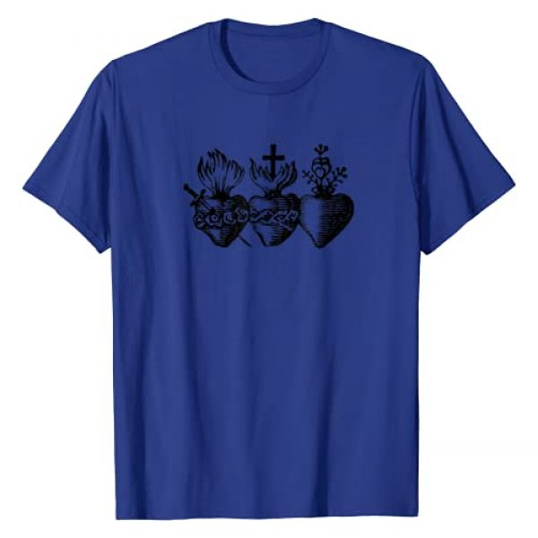 Swesly Christian Graphic Tshirt 1 Sacred Heart - Religious Icon Art DTF403a T-Shirt