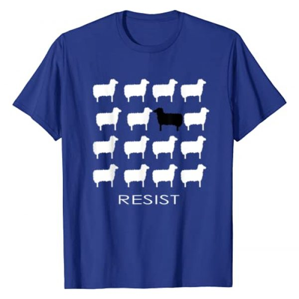 Roarin' Tees Graphic Tshirt 1 White and Black Sheep Resist Empowering Dissent Resistance T-Shirt