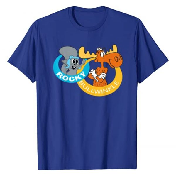 Rocky And Bullwinkle Graphic Tshirt 1 Smile Ring Logo Graphic T-Shirt