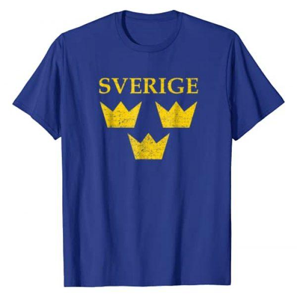 Nordify Swedish Graphic Tshirt 1 Sverige Sweden Tshirt Three Crowns Tre Kronor T-shirt Shirt