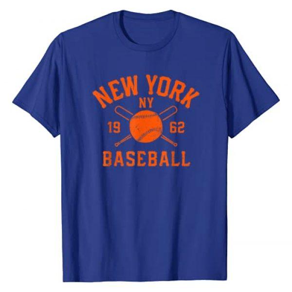 QueensBaseballCo. Graphic Tshirt 1 Vintage New York-Baseball Queens NY Distressed T-Shirt