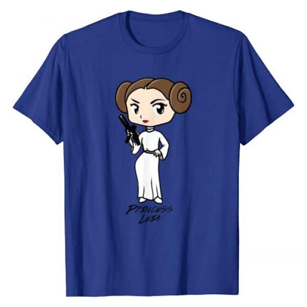 Star Wars Graphic Tshirt 1 Princess Leia Cute Cartoon Graphic T-Shirt