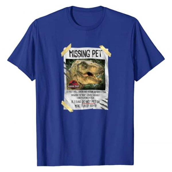 Jurassic Park Graphic Tshirt 1 Missing Pet T-Rex Poster Taped Graphic T-Shirt