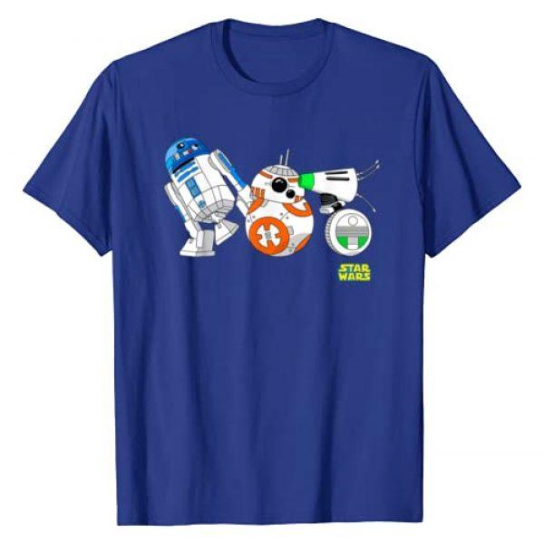 Star Wars Graphic Tshirt 1 The Rise Of Skywalker Cartoon Droid Lineup T-Shirt
