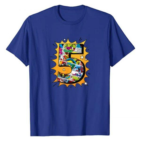 Marvel Graphic Tshirt 1 Avengers Comics 5th Birthday T-Shirt