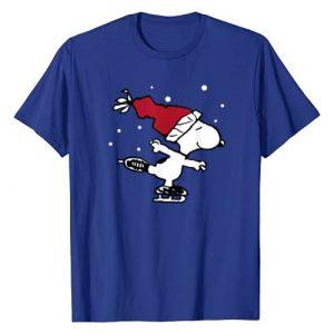 Peanuts Graphic Tshirt 1 Snoopy Skate Holiday T-Shirt