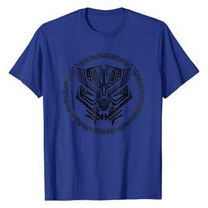 Marvel Graphic Tshirt 1 Black Panther Geometric Circle Logo Graphic T-Shirt