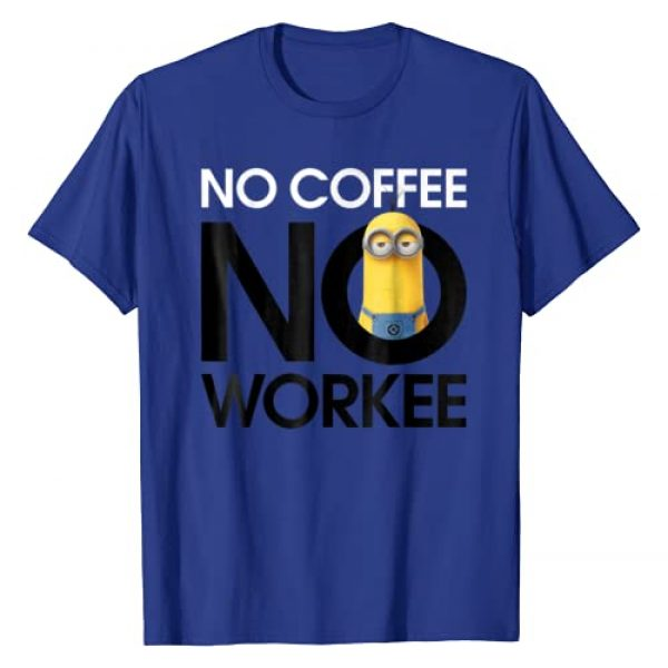 Despicable Me Graphic Tshirt 1 Minions No Coffee No Workee Graphic T-Shirt