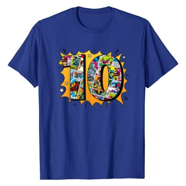 Marvel Graphic Tshirt 1 Avengers Comics 10th Birthday T-Shirt