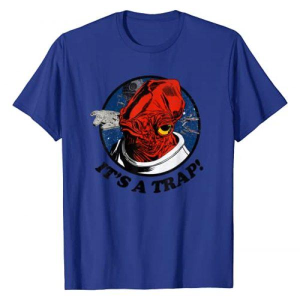 Star Wars Graphic Tshirt 1 Admiral Ackbar Falcon IT'S A TRAP! Graphic T-Shirt