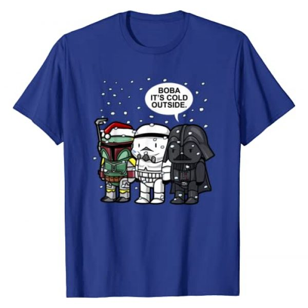 Star Wars Graphic Tshirt 1 Christmas Boba It's Cold Outside Graphic T-Shirt