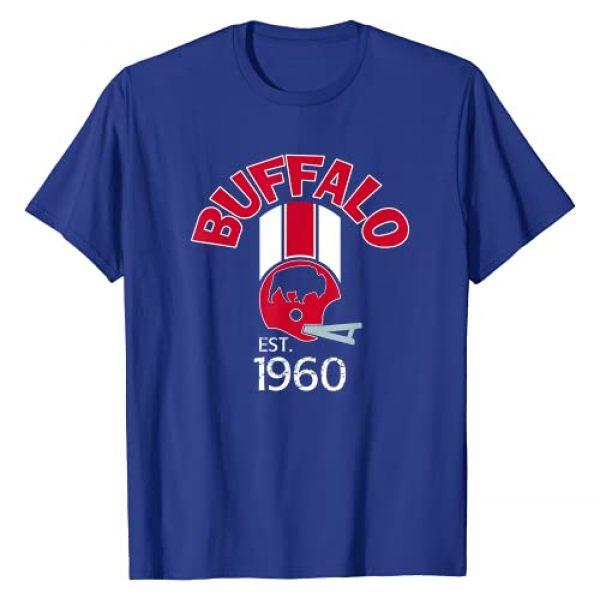 Buffalo Mafia Football Apparel Graphic Tshirt 1 Buffalo Helmet Stripe Varsity Style Retro 1960 Football T-Shirt