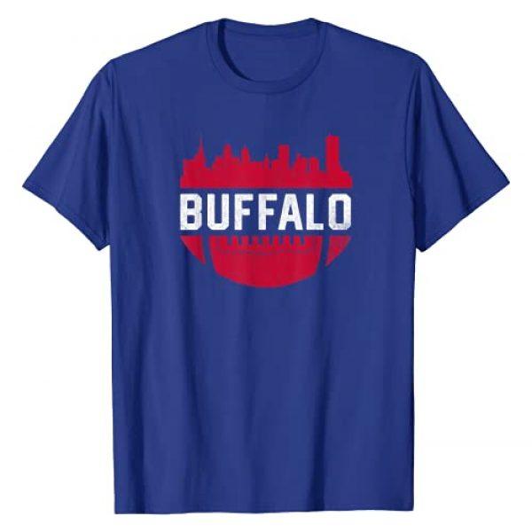 Tout Wear Buffalo Graphic Tshirt 1 Vintage Downtown Buffalo New York Skyline Football T-Shirt