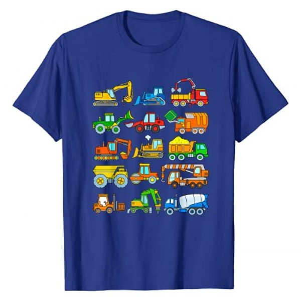 Excavator Designs for Toddler Boys Graphic Tshirt 1 Digger Truck Boys Toddlers Kids Trucks Construction Vehicles T-Shirt
