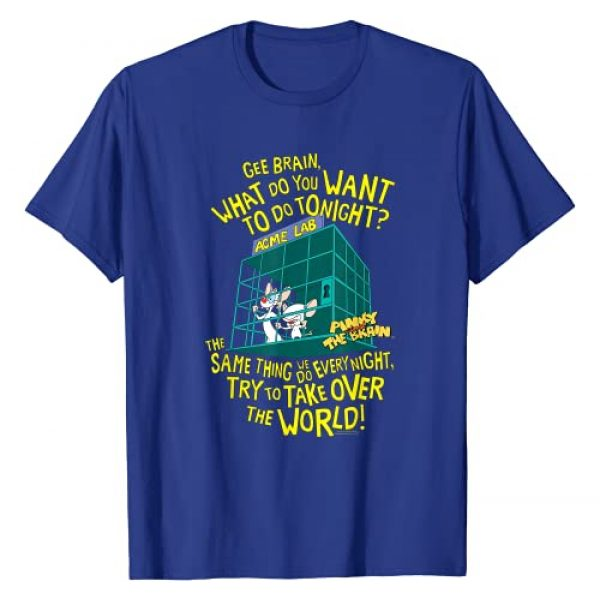 PINKY AND THE BRAIN Graphic Tshirt 1 The World T-Shirt