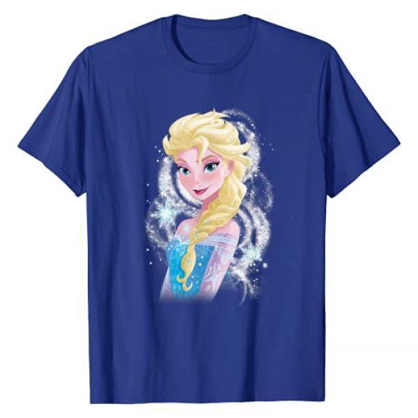 Disney Graphic Tshirt 1 Frozen Elsa Snowflake Swirls Graphic T-Shirt T-Shirt