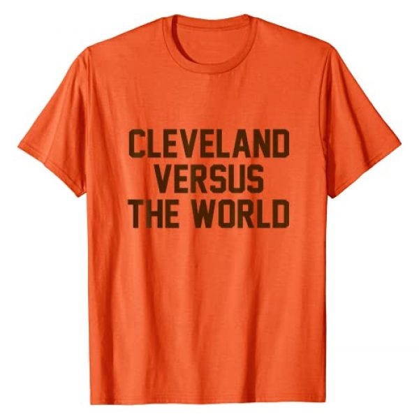 Your City versus the World Gift Tees Graphic Tshirt 1 Cleveland Versus the World - Brown Block Letters - T-Shirt