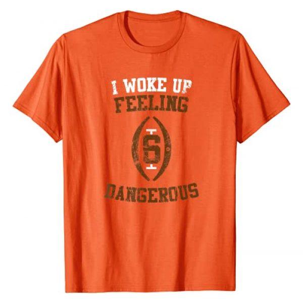 mi - American Football Tee Graphic Tshirt 1 I Woke Up Feeling Dangerous - Football Number 6 Game Tee T-Shirt
