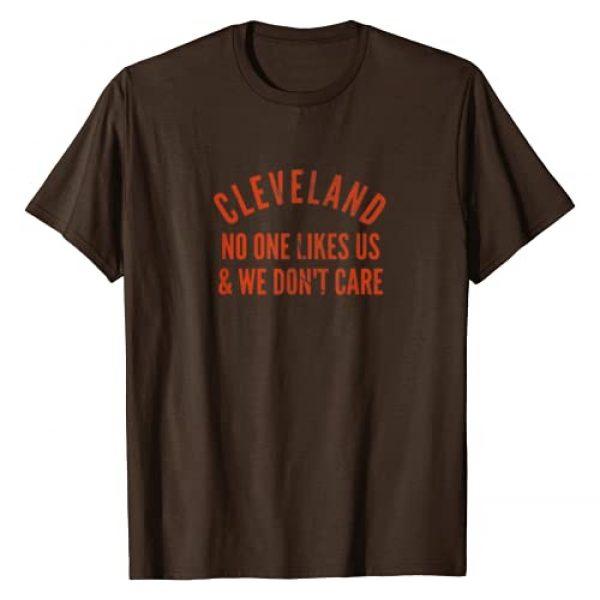 Josh's Tees Graphic Tshirt 1 Cleveland No One Likes Us Orange on Brown T-Shirt
