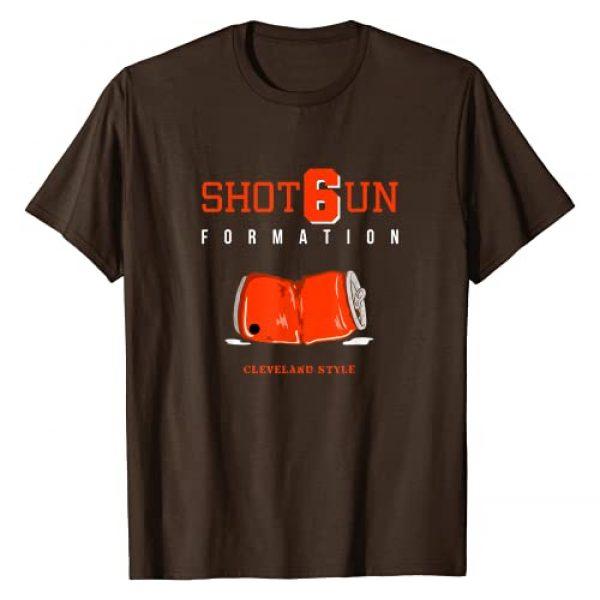Funny Football Tailgate Gear Graphic Tshirt 1 Cleveland Shot Gun Formation T-Shirt