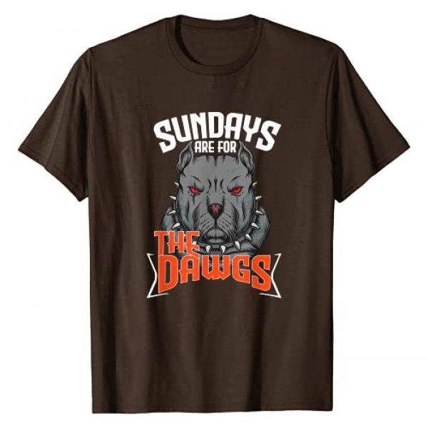 Dawg Pound Squad Graphic Tshirt 1 Sundays Are For The Dawgs Cleveland Gift T-Shirt
