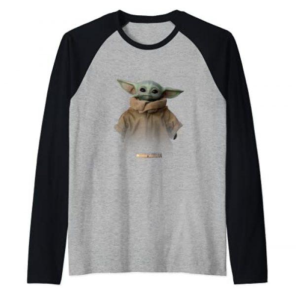 Star Wars Graphic Tshirt 1 The Mandalorian Logo The Child Simple Portrait Raglan Baseball Tee