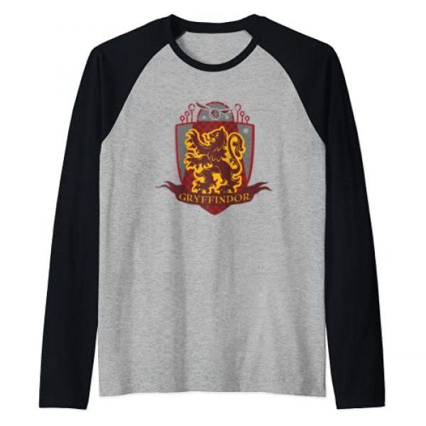 Harry Potter Graphic Tshirt 1 Gryffindor Quidditch Shield Logo Raglan Baseball Tee